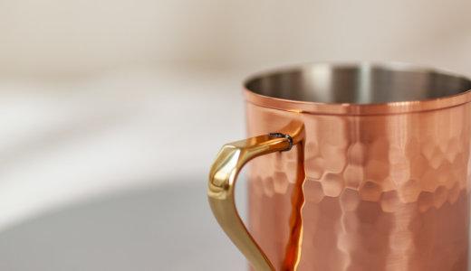朝は腸のクレンズタイム。起き抜けの白湯の夏用に純銅マグカップ