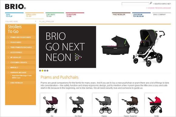 スウェーデン BRIOのベビーカーサイト画像