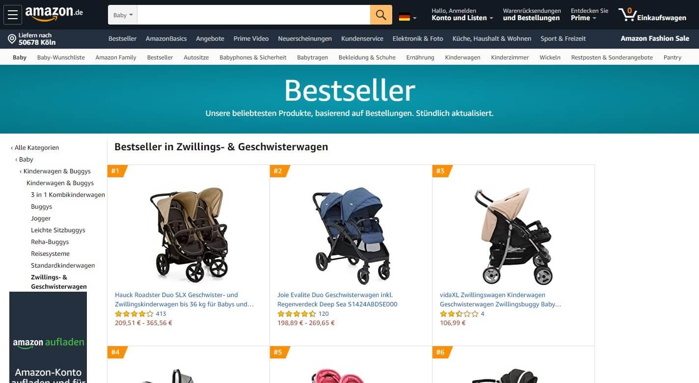 Bestseller in Zwillings- & Geschwisterwagen
