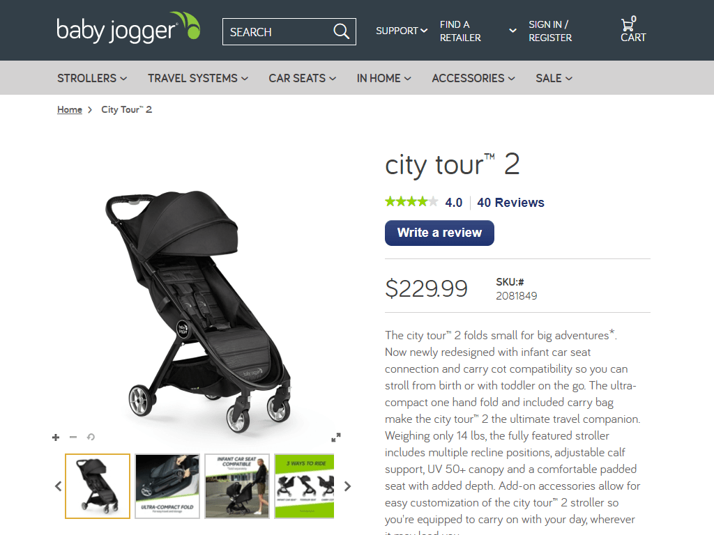 city tour™ 2 | BabyJoggerUSAStore