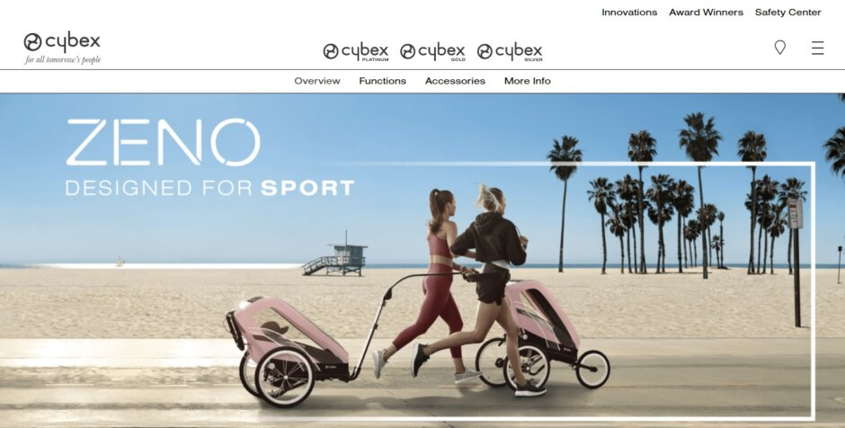 サイベックスがランニング用としても、自転車で牽引することもできるベビーカー『CYBEX ZENO(ゼノ)』を発表!